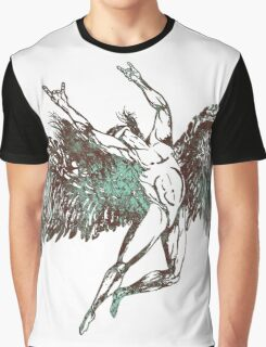 ICARUS THROWS THE HORNS - aqua grunge Graphic T-Shirt