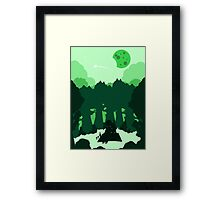Moonlit Picnic Framed Print