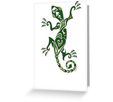 Lizard Tattoo -textured Greeting Card