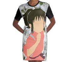 Chihiro Peonies Graphic T-Shirt Dress