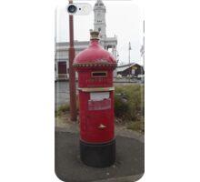 Vintage Mail Box in front of Ballarat Station iPhone Case/Skin
