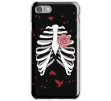 Rosen-Herz Skelett iPhone Case/Skin