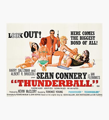 James Bond - Thunderball Movie Poster Photographic Print