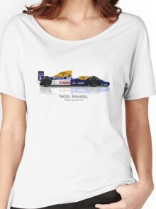 Williams FW14 - 1991 Nigel Mansell Women's Relaxed Fit T-Shirt