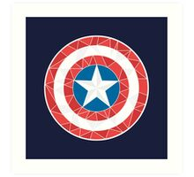 Captain America - Stylised Shield Art Print