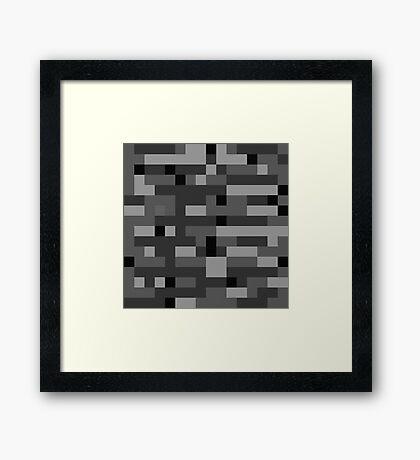 Minecraft Bedrock Framed Print