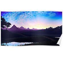 Pixel Art Nature Scene Poster