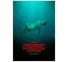 Stranger Things Eleven 11 Water  Photographic Print