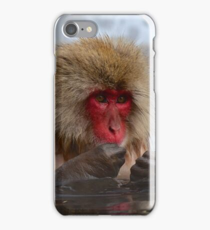 Snow monkey Japan iPhone Case/Skin