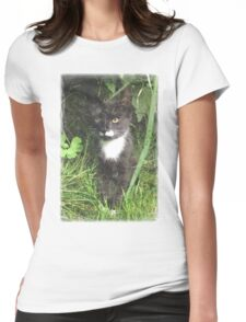 Kitten in the Woods Womens Fitted T-Shirt