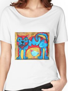 Catius Maximus and the little Blue Bird  Women's Relaxed Fit T-Shirt