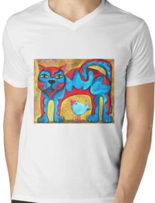 Catius Maximus and the little Blue Bird  Mens V-Neck T-Shirt