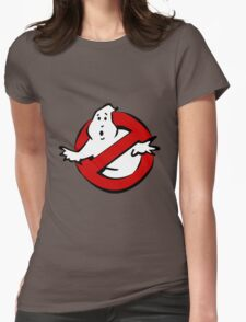 """I Ain't Afraid of No Ghost"" Ghostbusters Stay Puft Mashmallow Man Green Slime Slimer Womens Fitted T-Shirt"