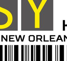 Destination New Orleans Airport Sticker