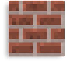 Minecraft Brick Canvas Print