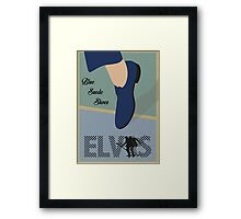 """Blue Suede Shoes"" Elvis Presley Framed Print"
