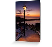 Whitby's 199 steps Greeting Card
