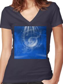 Hold Your Dream-  Art + Products Design  Women's Fitted V-Neck T-Shirt