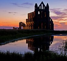 Whitby Abbey at dusk by davidrichardson