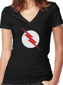 Black Flash Women's Fitted V-Neck T-Shirt