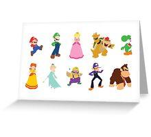 Minimalist Mario Party Greeting Card