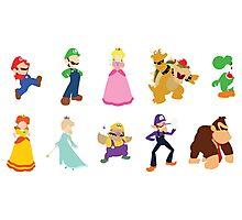 Minimalist Mario Party Photographic Print