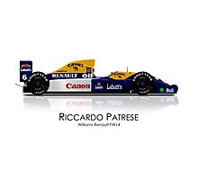Riccardo Patrese - Williams Renault FW14 Photographic Print