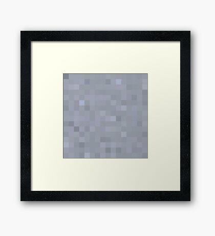 Minecraft Clay Framed Print