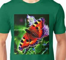 Electric Peacock Butterfly Unisex T-Shirt