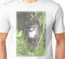 Faded Cat in the Woods Unisex T-Shirt