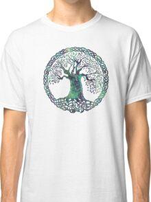 CELTIC KNOTS TREE OF LIFE - swamp midnight Classic T-Shirt