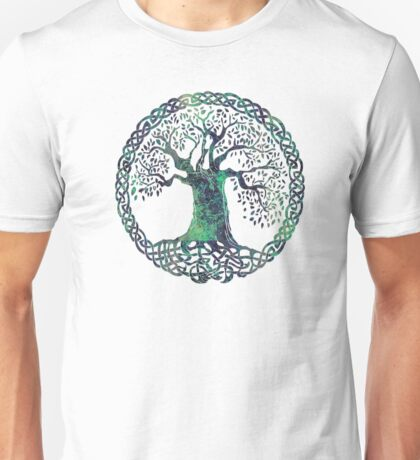 CELTIC KNOTS TREE OF LIFE - swamp midnight Unisex T-Shirt