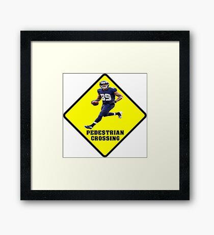 Pedestrian Crossing - Doug Baldwin Framed Print