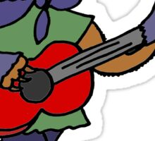 Funky Cool Sloth Playing Guitar Sticker