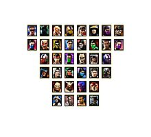 Mortal Kombat 3 Trilogy Character Select Photographic Print