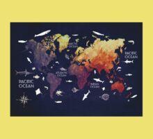 world map 11 One Piece - Short Sleeve