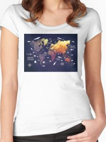world map 11 Women's Fitted Scoop T-Shirt