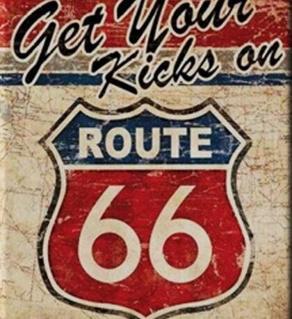 Route 66 Kicks Sticker