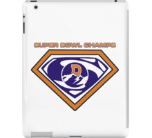 Denver Broncos Super Bowl Champs iPad Case/Skin