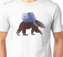 Traveling Brown Bear Unisex T-Shirt