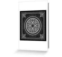Indigo Home Medallion - White Greeting Card