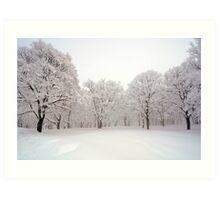 Snow scene Japan Art Print