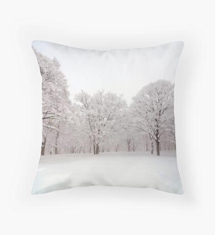 Snow scene Japan Throw Pillow