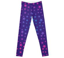 Multicolored Stars on Bluish Purple Leggings