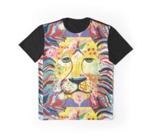 Glowing Lion Graphic T-Shirt
