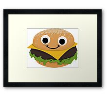 Burgie the Floating Burger Framed Print