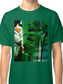 Greeny leafy graphic design Classic T-Shirt