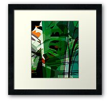 Greeny leafy graphic design Framed Print