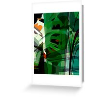 Greeny leafy graphic design Greeting Card
