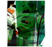 Greeny leafy graphic design Poster